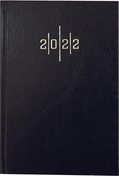 Lizy 14 x 20 cm 2022 Günlük Ajanda Cilt Bezi Kapak AJ902E Lacivert