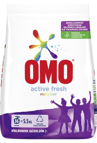 Omo Toz Çamaşır Deterjanı Active Fresh Renkliler İçin Renklilerinizi Koruyarak En Zorlu Lekeleri İlk Yıkamada Çıkarır 6 KG 36 Yıkama 1 Adet