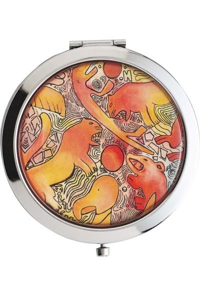 Müzeden Al Kırmızı Hayvanlı Ayna Göbeklitepe Koleksiyonu