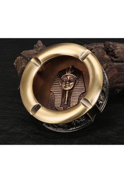 Mor İncir Antik Mısır Bakır Renk Kül Tablası