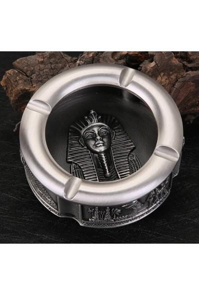 Mor İncir Antik Mısır Gümüş Renk Beton Kül Tablası
