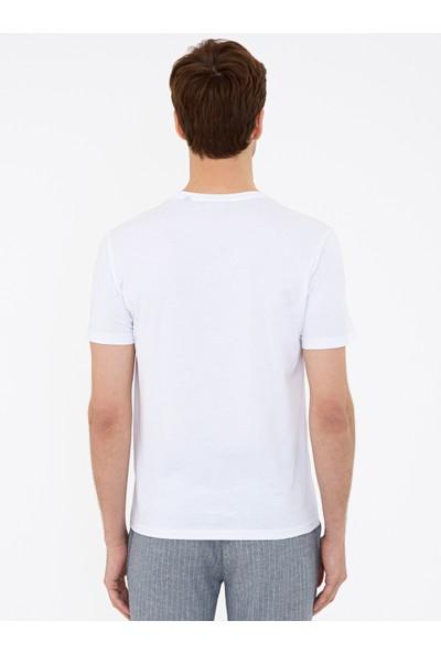 Cacharel Bisiklet Yaka Basic T-Shirt 50239832-VR013