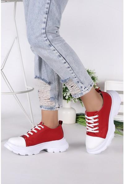 Step Woggo Pnt 471021 Günlük Bağcıklı Kadın Spor Ayakkabı
