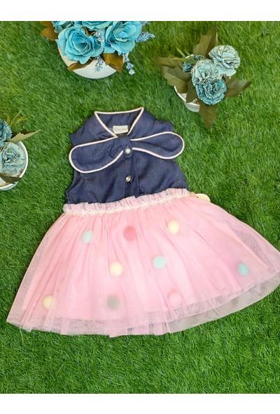 By Menesa Tütü Etek Detaylı Kot Bebek Elbise