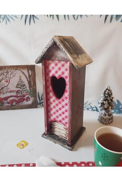 Meriç Tasarım Atölyesi Ahşap Ek Boyaması Çay Kutusu