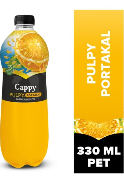 Cappy Pulpy Portakal Suyu Pet 330 ml