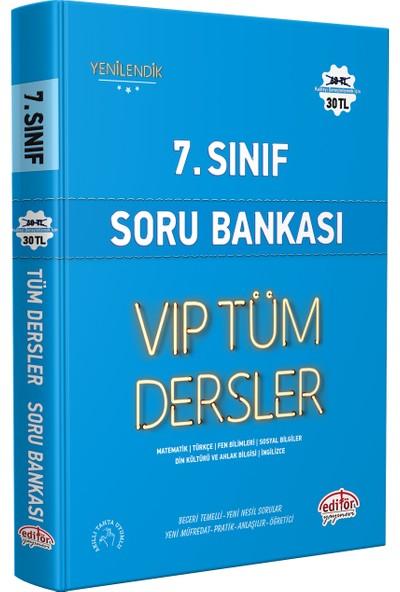 Editör Yayınevi 7. Sınıf Vip Tüm Dersler Soru Bankası Mavi Kitap