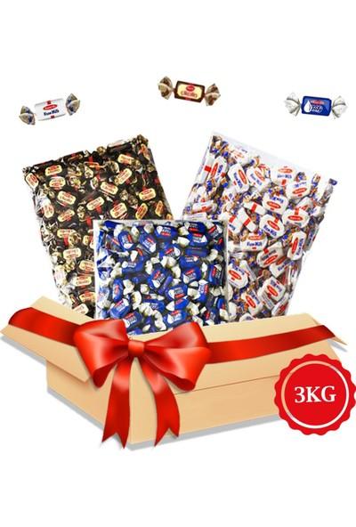 Şekerci Osman Kent Bayram Şekeri Avantajlı Paket 3 x 1 kg Bayram Kolisi Kent Çikolin, Damla Sakızlı, Krem Milk Arefelik Şeker