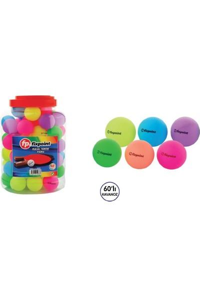Fixpoint P-2883 Renkli Masa Tenisi Topu - 60'lı Paket