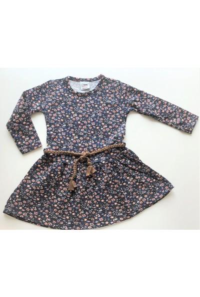 Babyrico Kız Çocuk Çiçek Desenli Penye Elbise