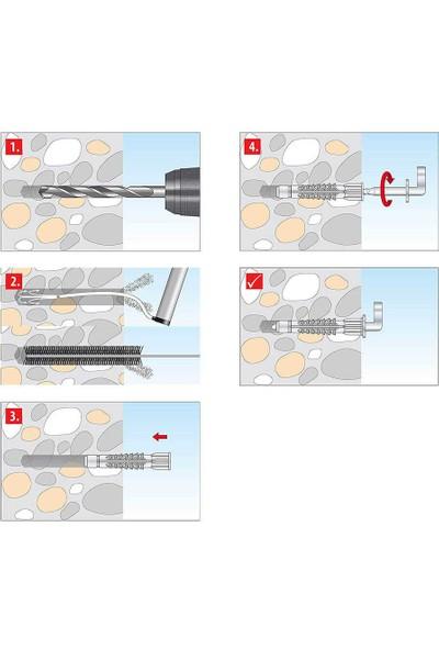 Tox 6X41 Pirat Lenny-L Kancalı H-D Trika Çok Amaçlı Dübel 4 Adet (051 701 32 1)