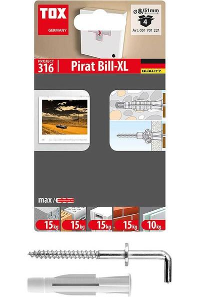 Tox 8X51 Pirat Bill-Xl Kancalı Çok Amaçlı Dübel 4 Adet (051 701 22 1)