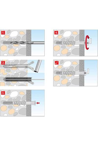 Tox 8X80 Pirat Longbird-L Kancalı H-Tfs-L Çok Amaçlı Dübel 2 Adet (051 701 42