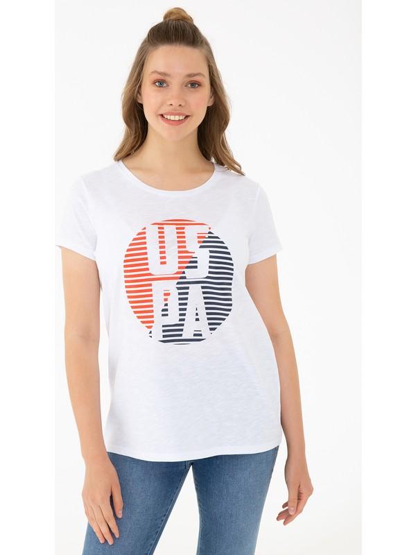 U.S. Polo Assn. Beyaz T-Shirt 50240282-VR013