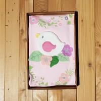 Bebikan Kuş Kabartmalı Pembe Bebek Battaniyesi