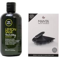Paul Mitchell Tea Lemon Sage Şampuan 300 ml + Manta Esnek Black/gold Saç Fırçası