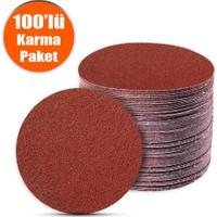 Badem10 100 Adet Cırt Zımpara Spiral Avuç Taşlama 115 mm (Karma Paket)