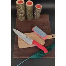 Sürlaz Mutfak Bıçağı Şef Bıçak + Bileme Taşı