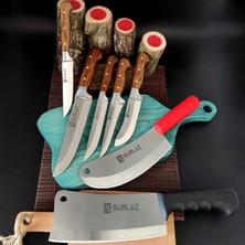 SürLaz Sürmene Bıçak Seti 7'li Et Bıçağı Kasap Bıçağı Satır Zırh