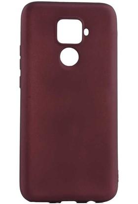 Canpay Huawei Mate 30 Lite Kılıf Yumuşak Pürüzsüz Esnek New Style Case Bordo
