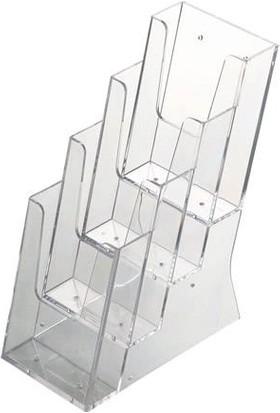 Snapper Masa Üstü Broşürlük 4 Katlı 10 x 21 cm