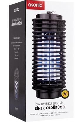 Asonic 3 Watt Elektrikli Sinek Öldürücü Cihaz Cız Lamba Mor Işık