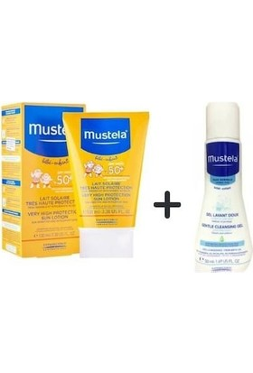 Mustela Güneş Losyonu SPF50 100 ml + Mustela Hydra Bebe 50 ml