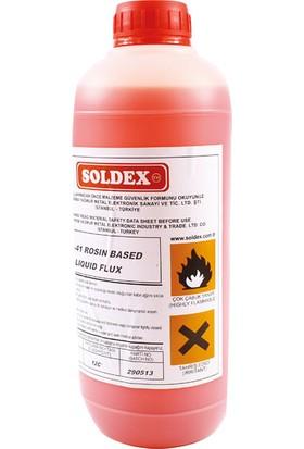 Flux Soldex Asr-41 (Kırmızı Renk) 1lt Köpürebilir Sıvı Flux