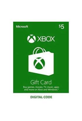 Xbox Live Gift Card 5 USD / 5 DOLAR (US) United States