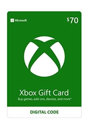 Xbox Live Gift Card 70 USD / 70 DOLAR (US) United States