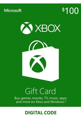 Xbox Live Gift Card 100 USD / 100 DOLAR (US) United States
