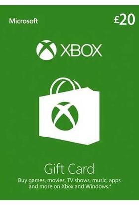 Xbox Live Gift Card 20 GBP / 20 POUND (UK) United Kingdom