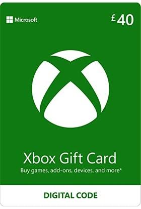 Xbox Live Gift Card 40 GBP / 40 POUND (UK) United Kingdom