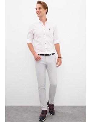 U.S. Polo Assn. Erkek Slim Fit Pantolon 614974468 Gri