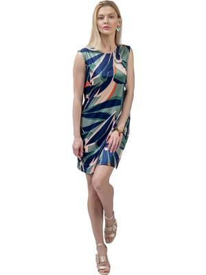 Şeilamia Gloria Sıfır Kol Kısa Elbise Mix