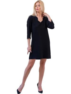 Şeilamia Truvakar Kol Sırtı Tül Detaylı Elbise