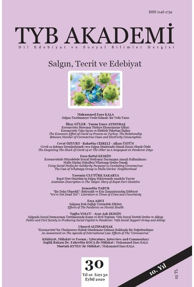 Tyb Akademi Dergisi Sayı:30 Eylül 2020