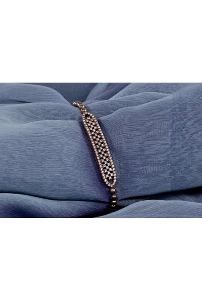Lili Pırlanta Kadın 925 Ayar Gümüş Swarovski Taşlı Bileklik GKL00027-062