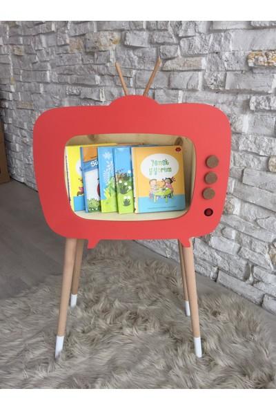 Go Baby Işıklı Retro Tv Kitaplık