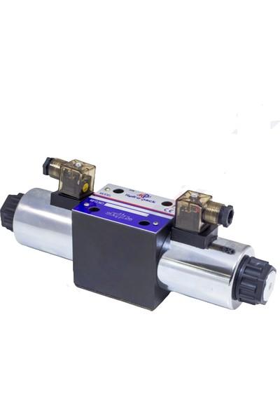 Hydro-Pack RH10041 - NG10 Çift Bobinli Motor Merkez 24 V Dc 4/3 Solenoid Valf