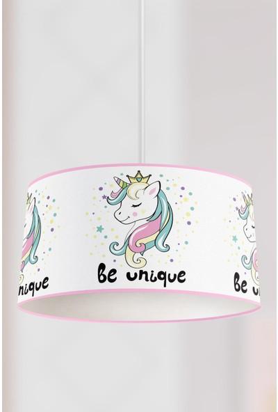 Tropik Home Prenses Unicorn Çocuk Sarkıt Avize