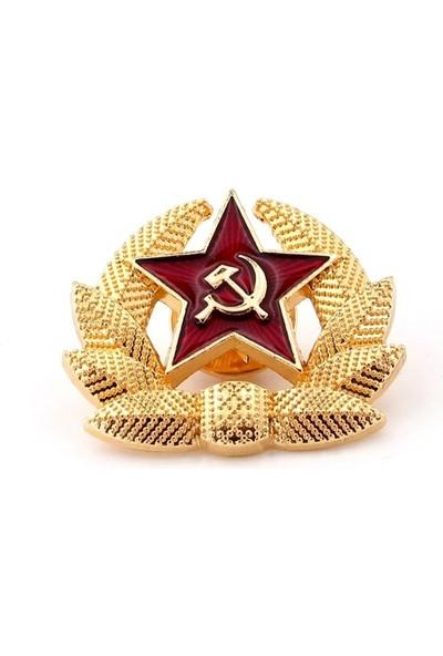 Solfera Kızıl Yıldız S.s.c.b. Orak Çekiç Çelenk Sovyet Pin Rozet RZ010