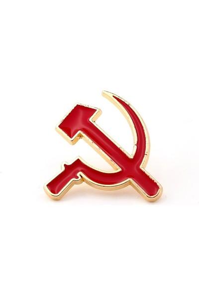 Solfera S.s.c.b. Kırmızı Orak Çekiç Sovyet Metal Pin Rozet Iğne RZ012