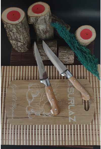 Sürlaz 2'li Sürmene Bıçak Seti