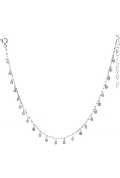 Midyat Nurtaş Gümüş Damlalı 925 Ayar Kadın Gümüş Halhal