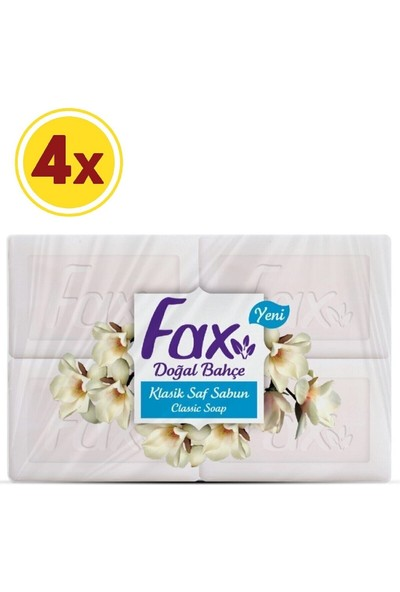 Fax Klasik Beyaz Kalıp Sabun 600 gr x 4 Adet