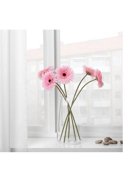 İkea Pembe Renk Yapay Çiçek-Gerbera Çiçeği Meridyendukkan Gerbera-Pembe 50 cm 1 Adet