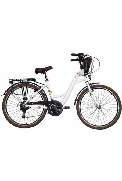 Ümit Bisiklet Ümit 2615 Valencıa L Bayan Şehir Bisikleti 430H V 26 Jant 21 Vites Beyaz