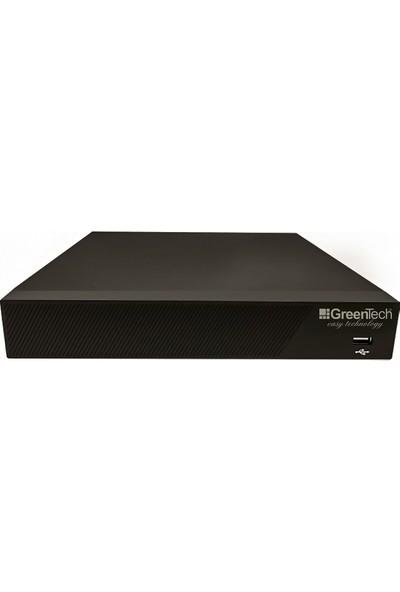 Greentech 9 Kanal 5mp H265 NVR Kayıt Cihazı