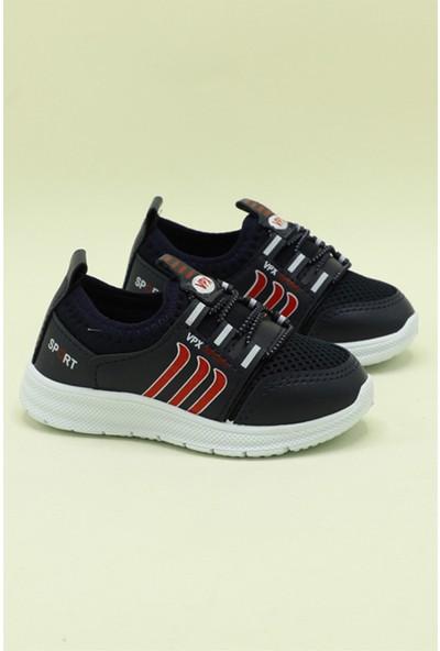 Bolimex Günlük Nefes Alır Siyah Çocuk Spor Ayakkabı 3370